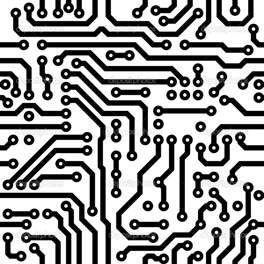 Integrated Circuit Symbol Golfclub Electronic Chip As An Abstract Background Pattern