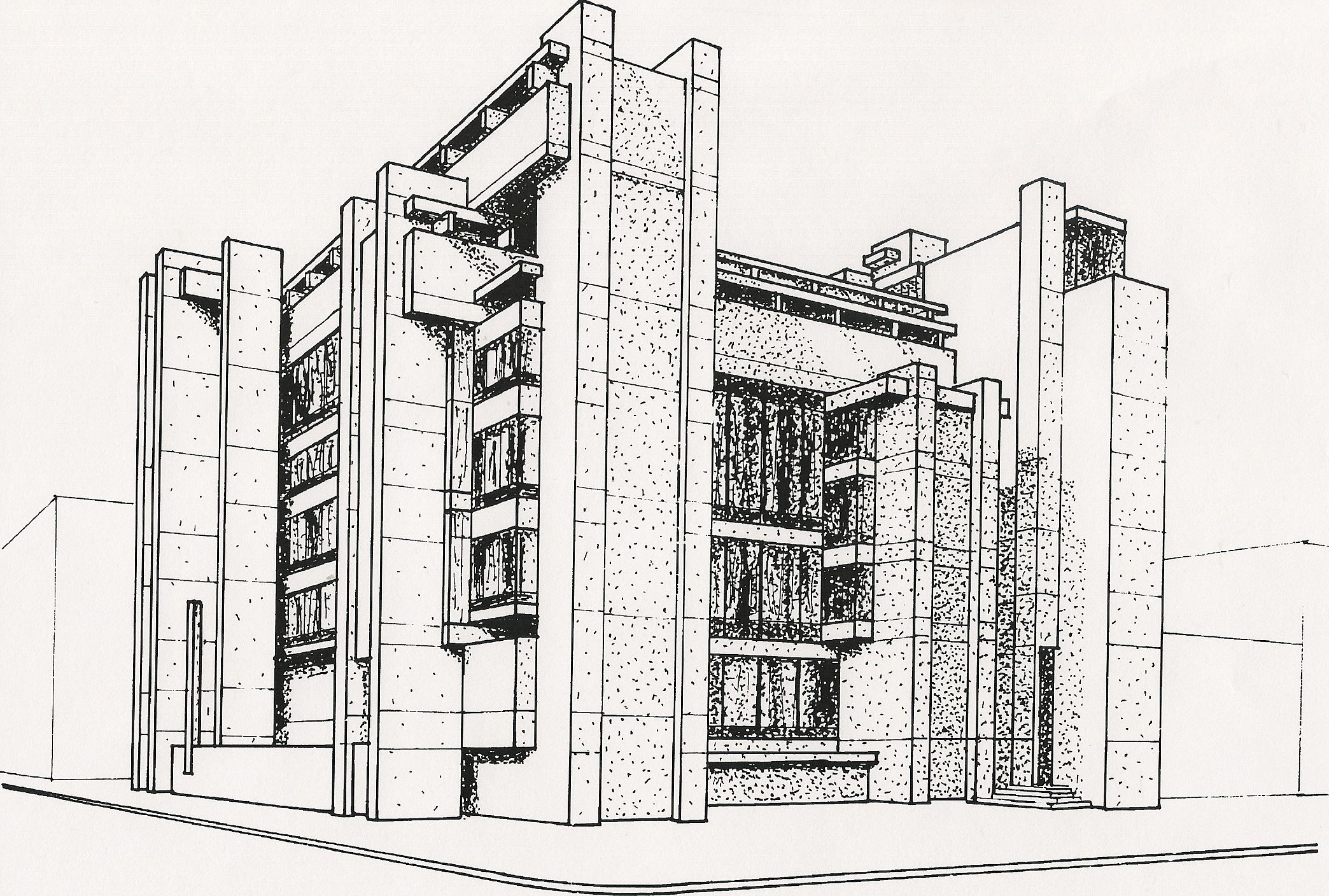 Building picture drawing