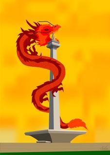 Dragon on monas