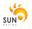 Thumb logo sun design