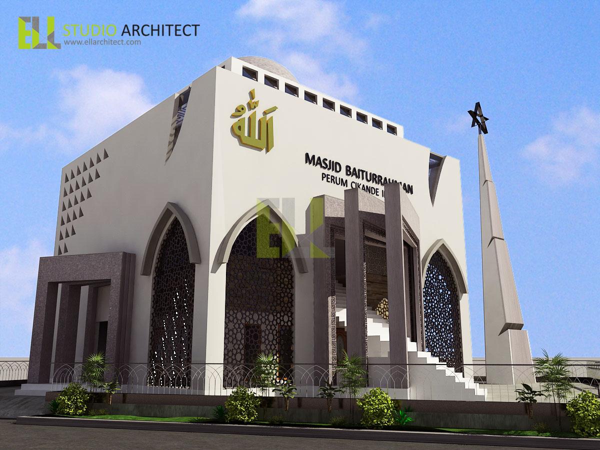 desain warna dinding masjid