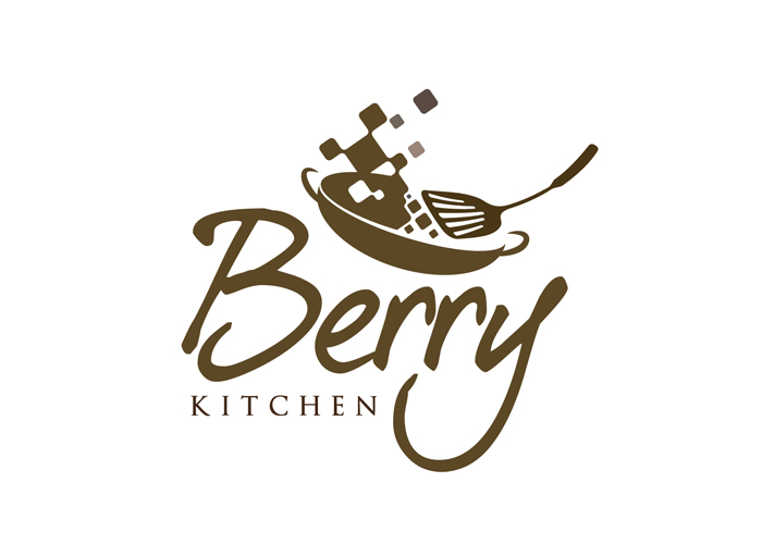 Sribu logo design logo berry kitchen online catering for Kitchen decoration logo