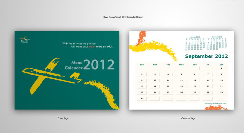 calendar design for bayubuana
