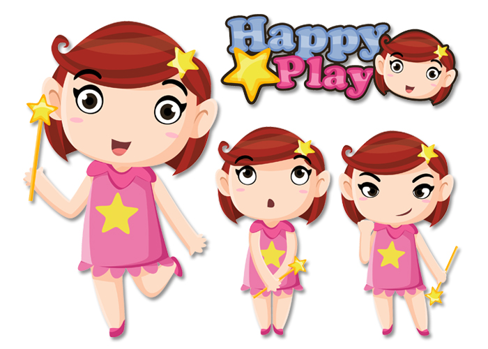 mascot character happy play