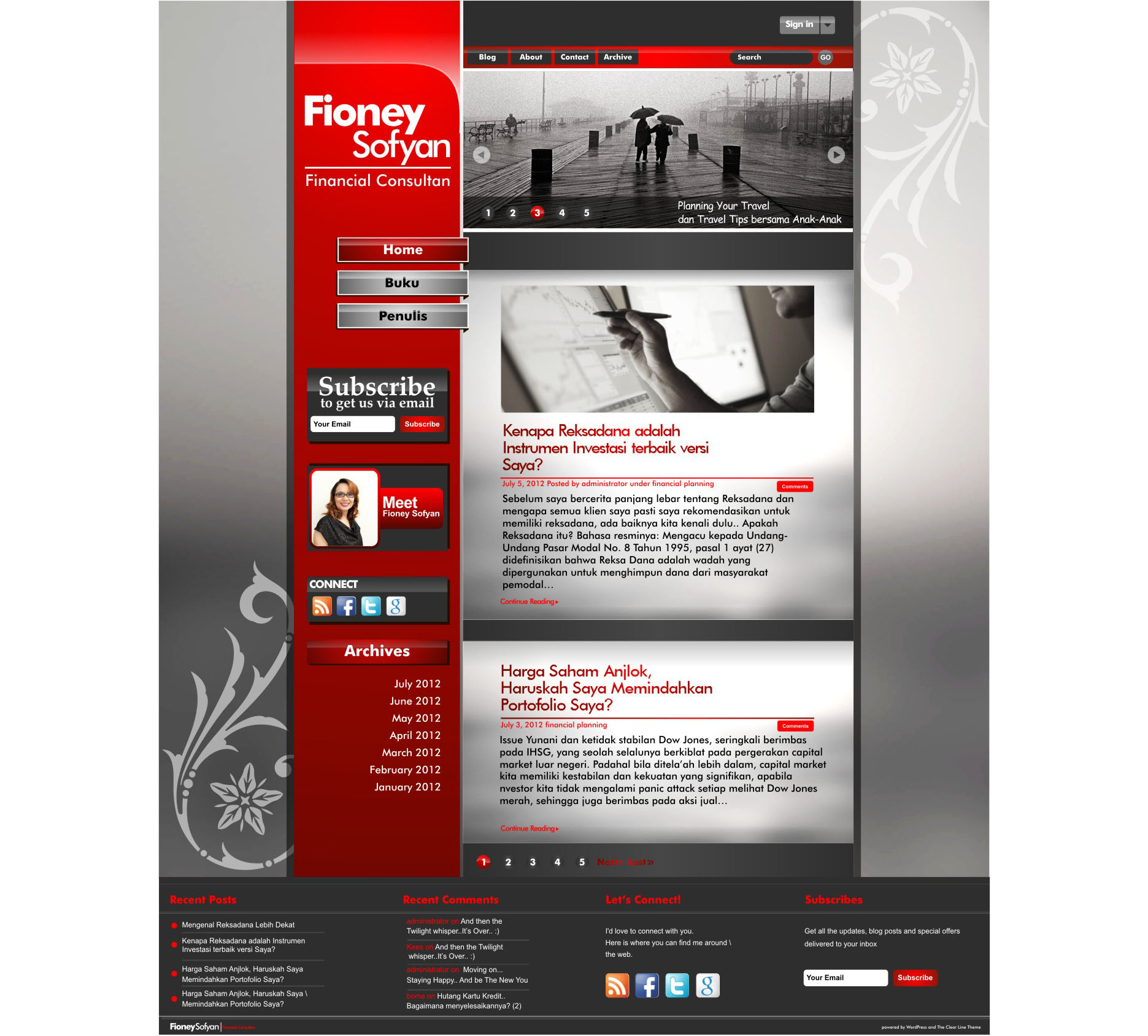 Sribu: Web Design - Personal Blog of Fioney Sofyan