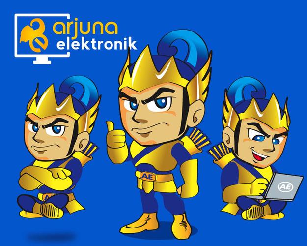 mascot design arjuna elektronik