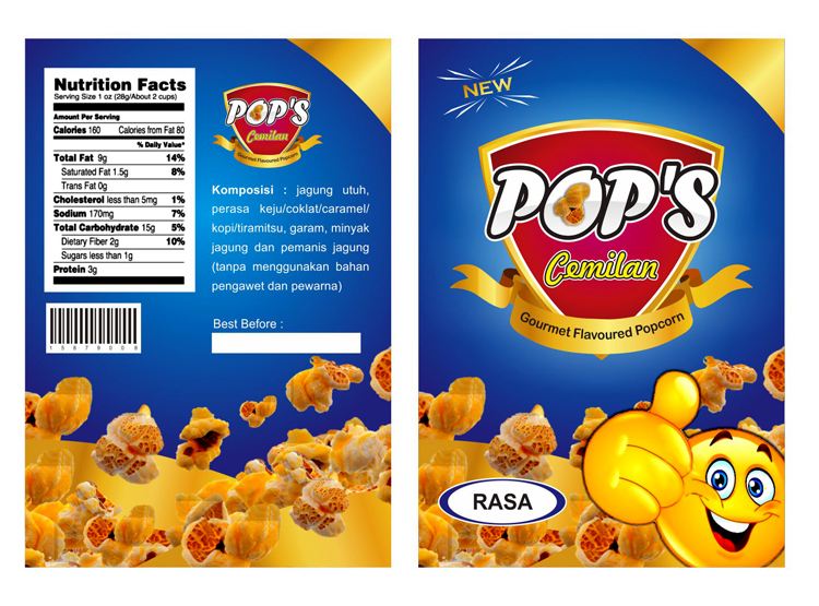 Galeri Desain Label Kemasan Produk Snack