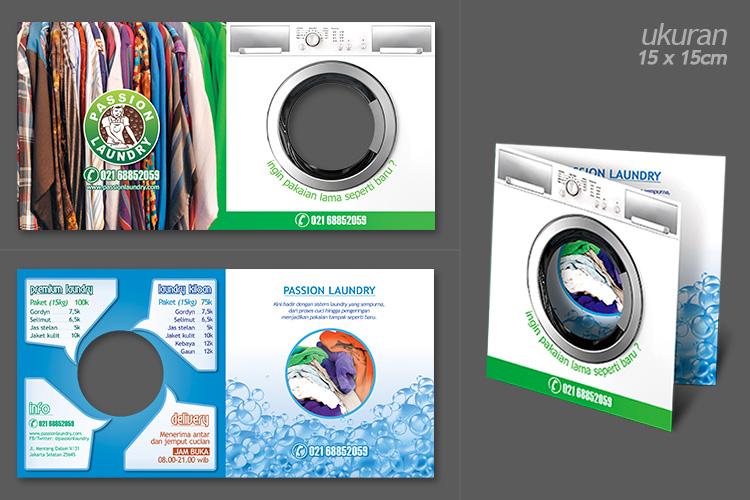 Desain Brosur Usaha Laundry Baru