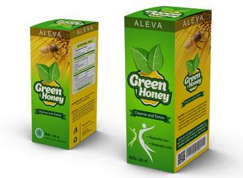 desain kemasan produk green honey