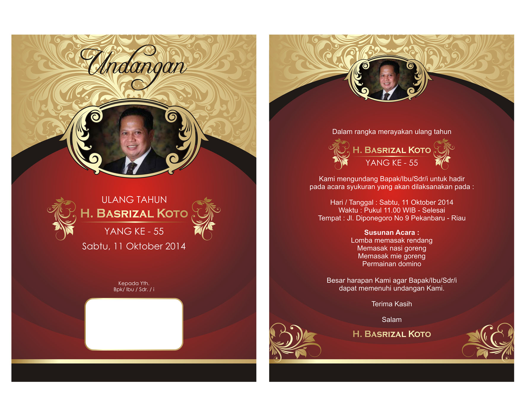 Personal Birthday Invitation Design Services