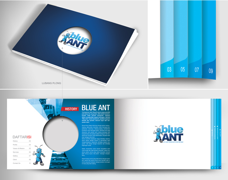 Company Profile Design for Blue Ant Logistic