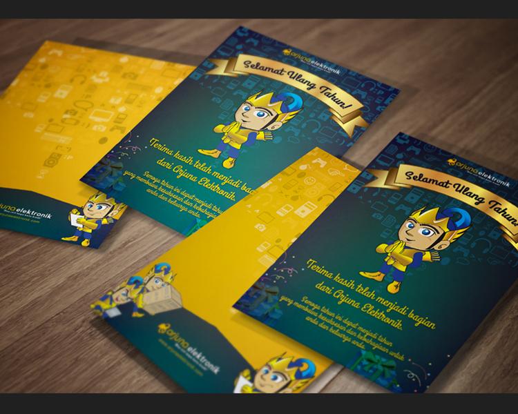 Sribu: Invitation Design - Desain Kartu Ucapan Ulang Tahun A