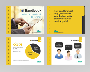gallery power point template design for product handbook