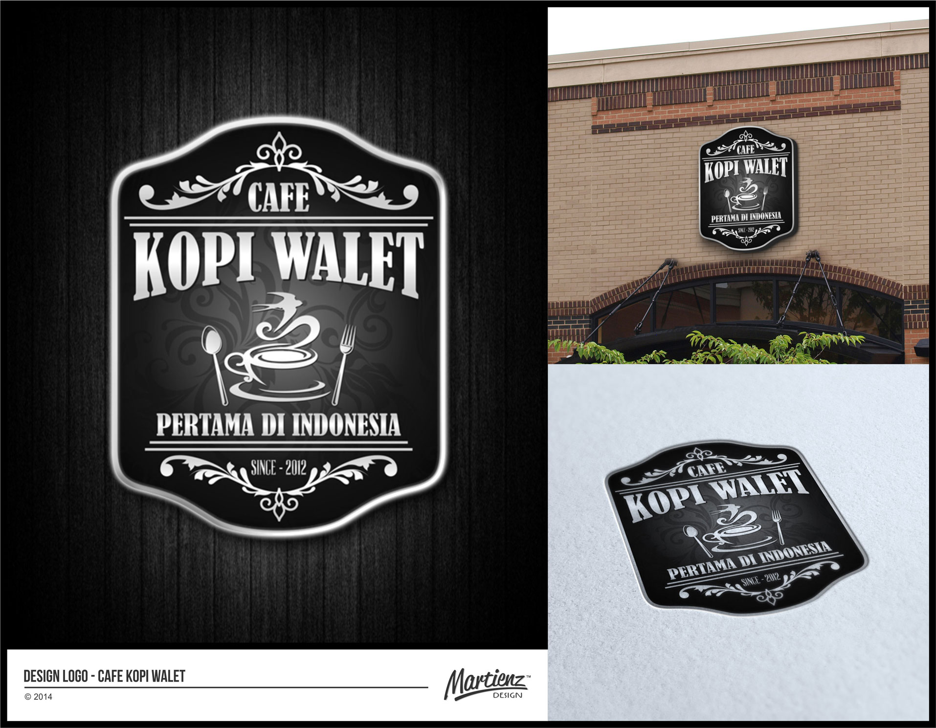 Sribu Desain  Logo Desain  Logo untuk CAFE  KOPI  WALET