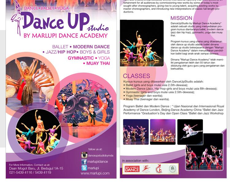 Gallery Desain Brosur Untuk Danceupstudio By Marlupi Danc