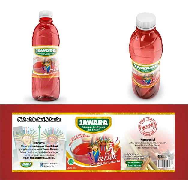 Sribu Desain Label Desain Label Untuk Minuman Khas Betawi