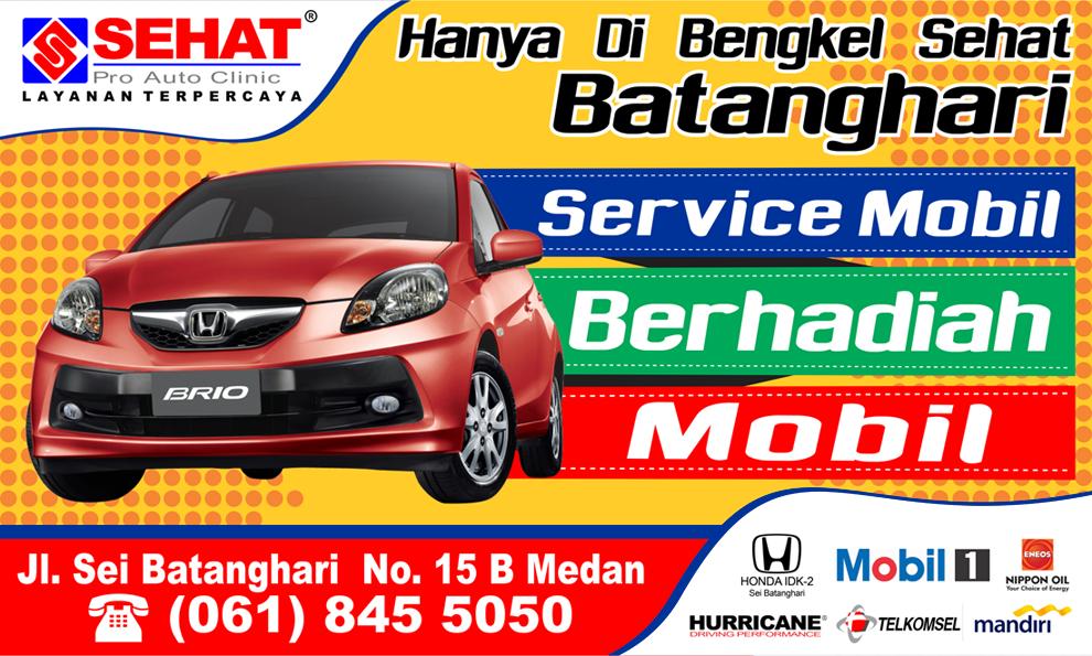 Desain Brosur Bengkel Mobil Contoh Banner