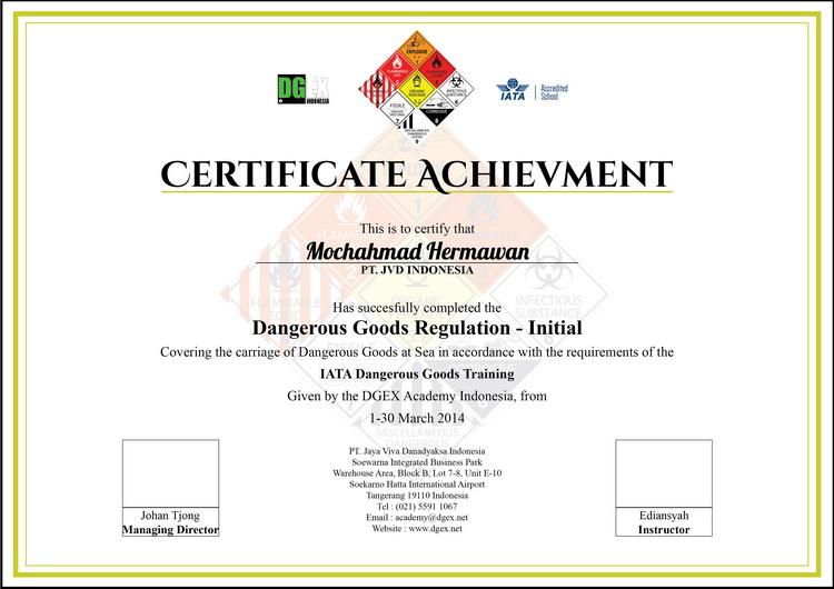 sle certificate non dangerous goods elegant parion certificate templates