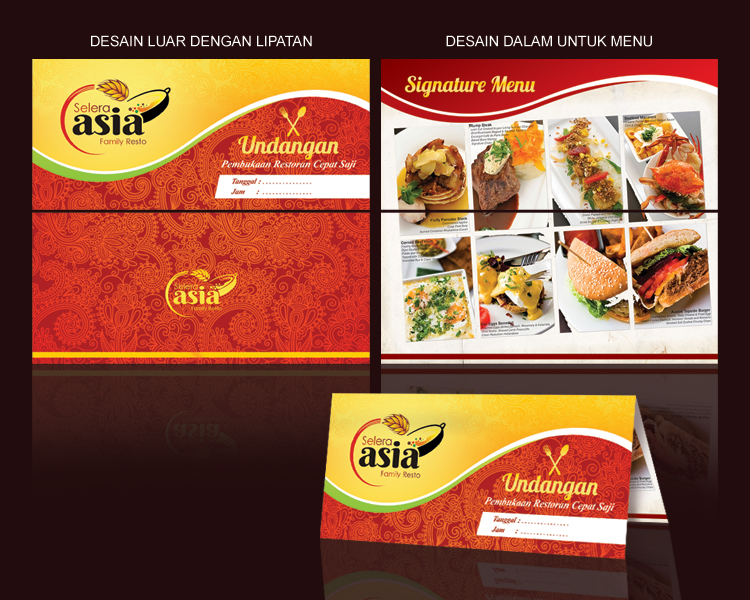 Invitation Design for Fast Food Restaurant Opening