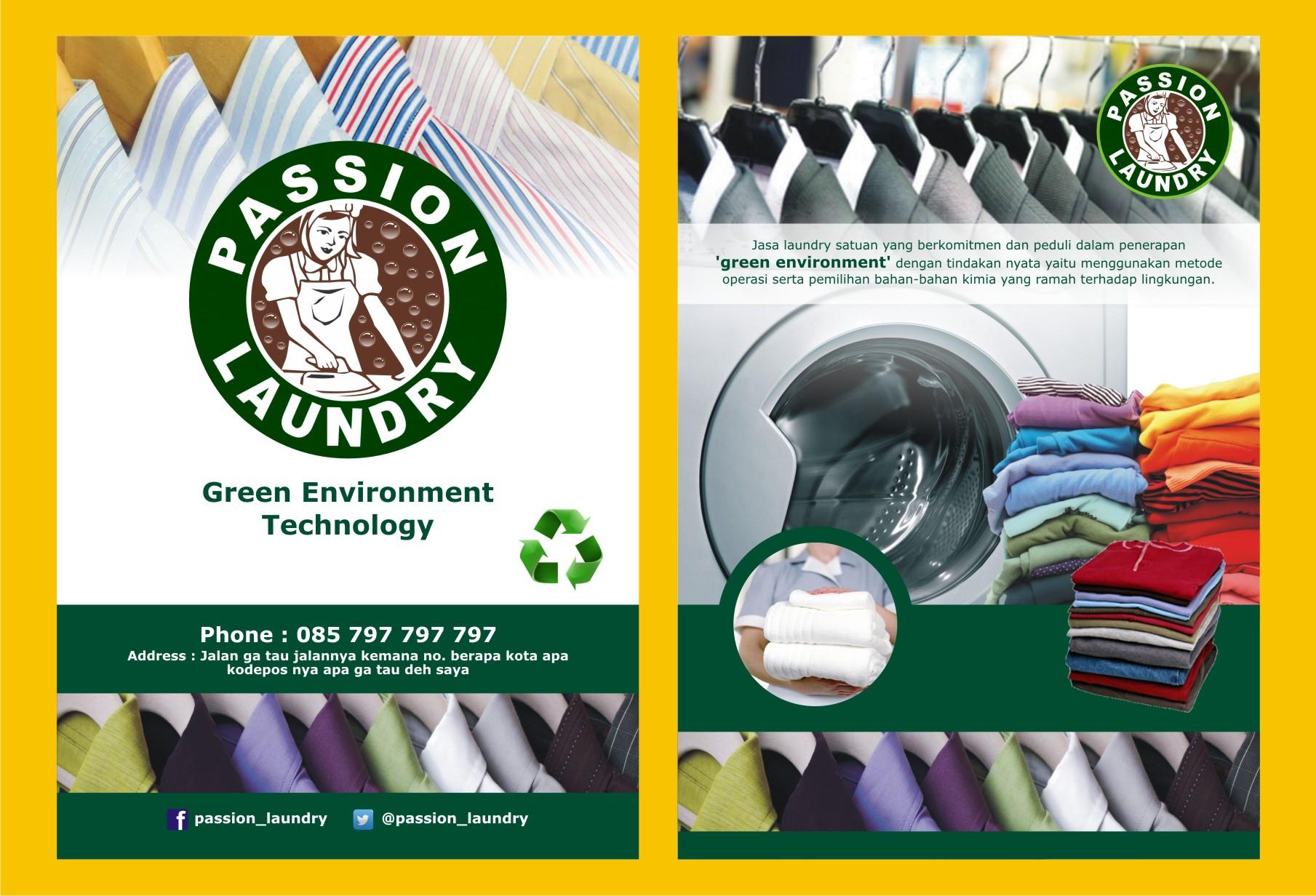 Desain Brosur untuk Passion Laundry