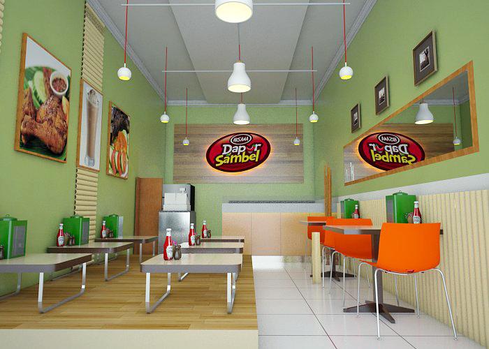 Galeri Desain Outlet Untuk Rumah Makan Dapur Sambal His