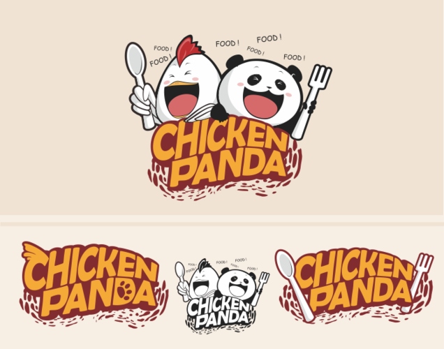mascot design chicken panda