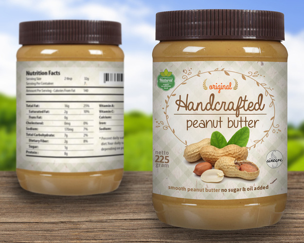 contoh desain label kemasan makanan dan minuman