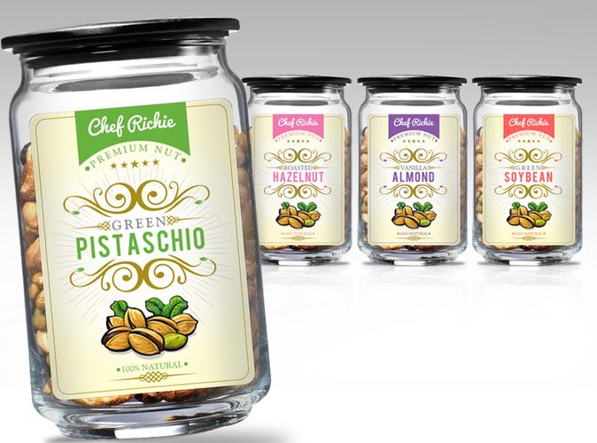 jasa desain label kacang