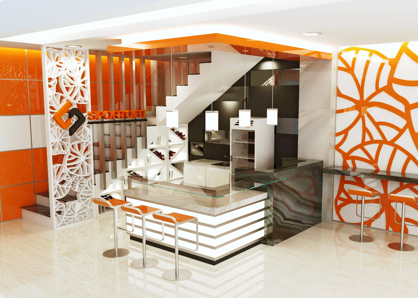 Sribu Booth Design Desain  Ruangan Cashier Mini  Cafe