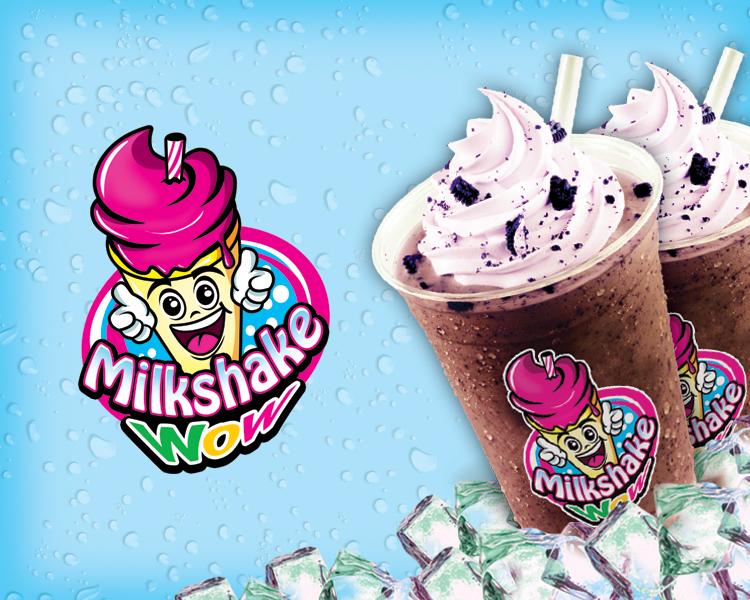 Sribu Logo Design Desain Logo Untuk Milkshake Wow