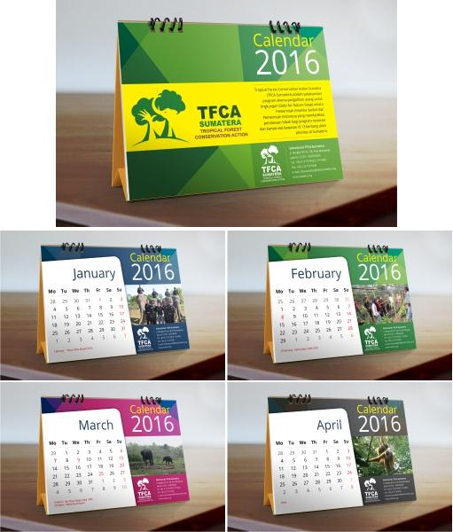 Calendar Design Competition : Gallery desain kalendar untuk tfca sumatera
