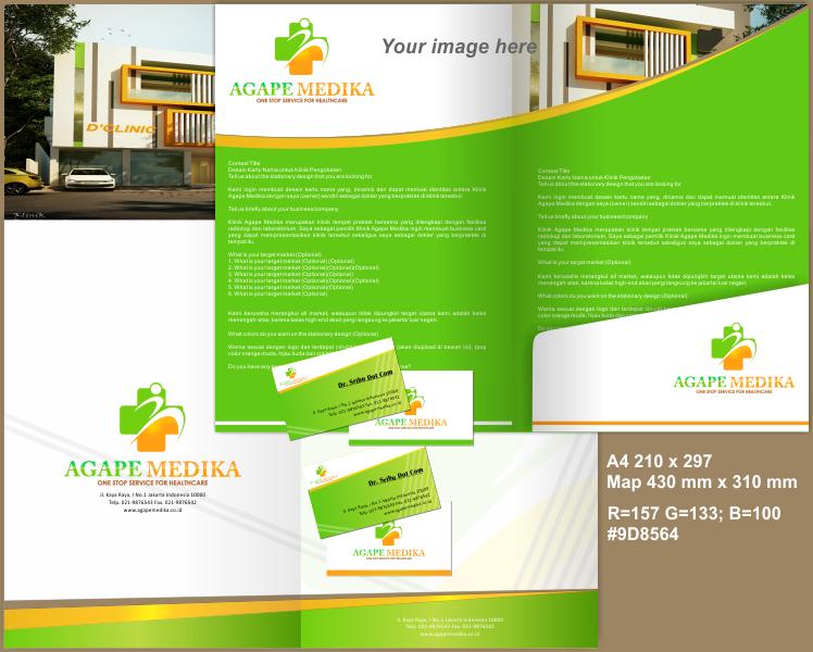 Sribu Stationery Design Desain Kartu Nama Untuk Klinik Pe