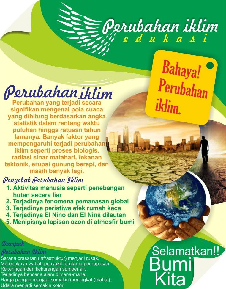 Contoh Poster Bencana Alam - Aneka Macam Contoh