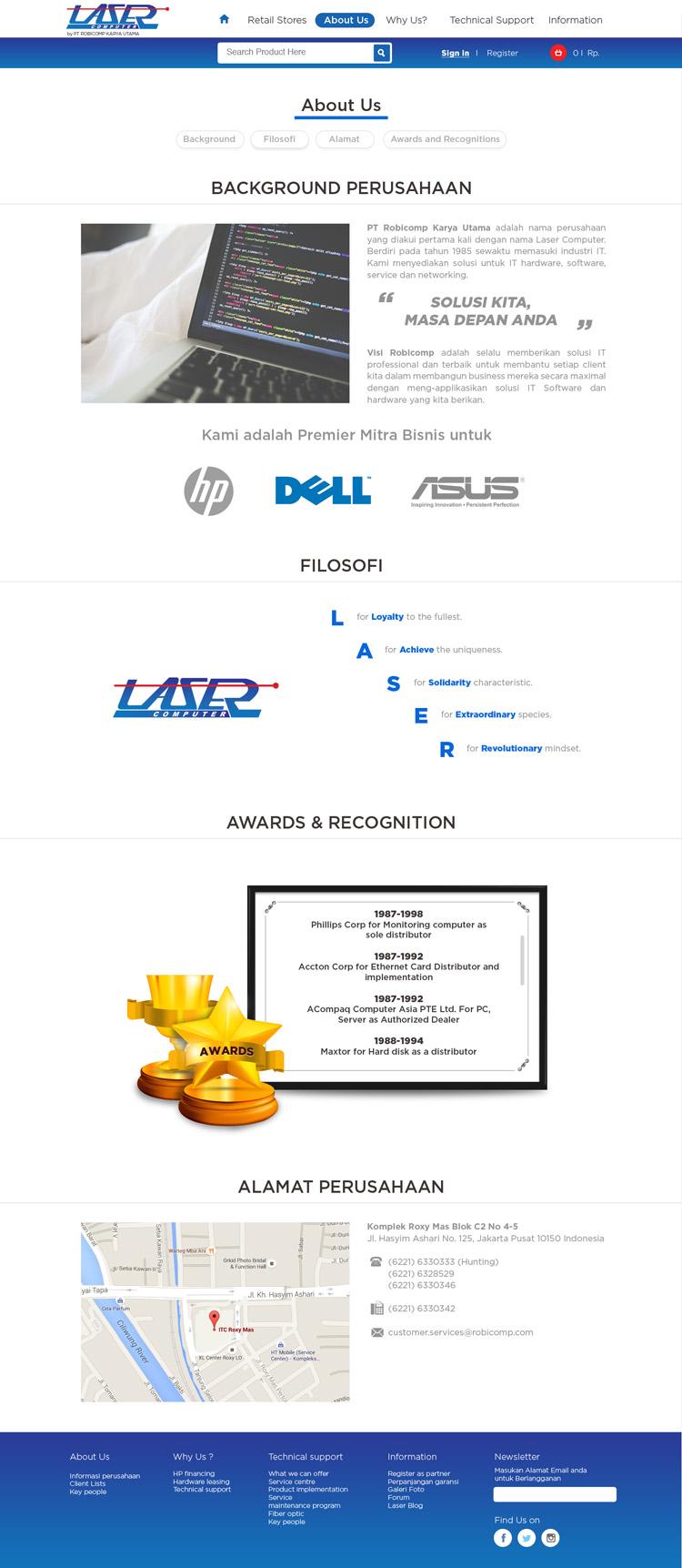 Sribu Web Design Laserstore Co Id Company Website E Comme