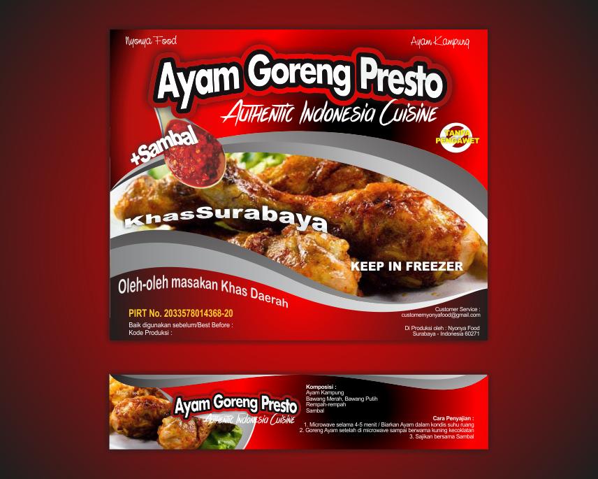 Sribu: Desain Label - Desain Label untuk Makanan Ayam Goreng
