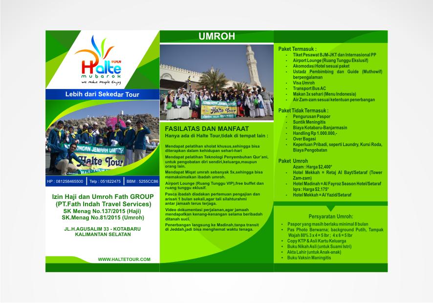 Galeri Desain Brosur Untuk Travel Umroh Haji