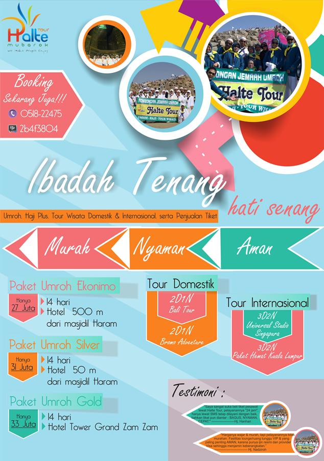Sribu Flyer Brochure Design Desain Brosur Untuk Travel Um