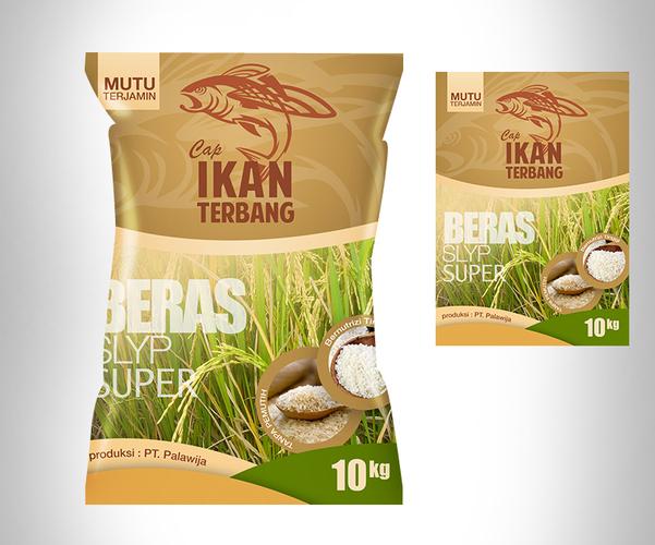 Desain kemasan karung beras
