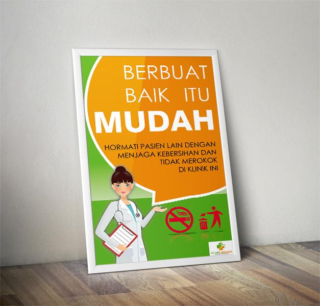 """Desain Poster """"Jagalah Kebersihan"""" Untuk Klinik Ke"""