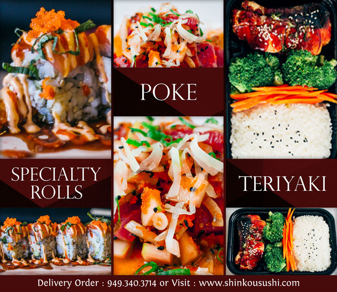 Window Poster Design Services For Sushi And Poke Restaurant