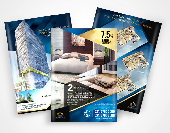 Flyer Design Services for Crown Sky
