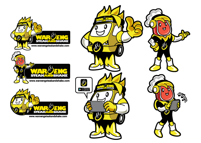 mascot design for waroeng steak