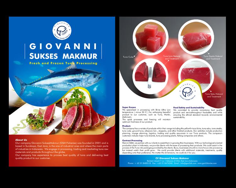 Desain Brosur Makanan dari Ikan Tuna