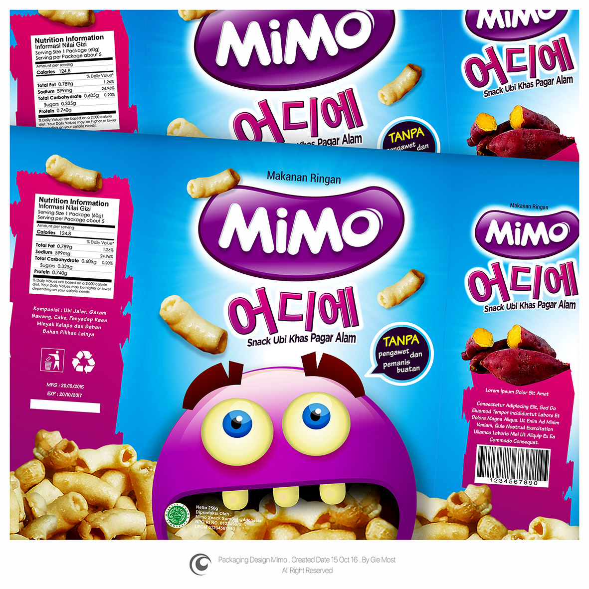 Gallery Packaging Design Untuk Mimo Snack Ubi Khas Pagar Makaroni Kemasan Box Office 71a8b37bfa