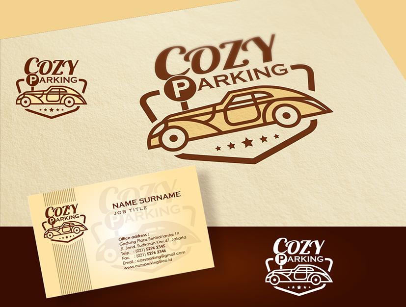 Desain Logo dan Stationery untuk COZY PARKING