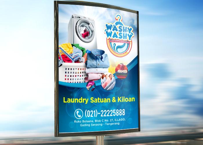 Sribu: Desain Banner - Desain Banner Untuk Laundry Washy-Was