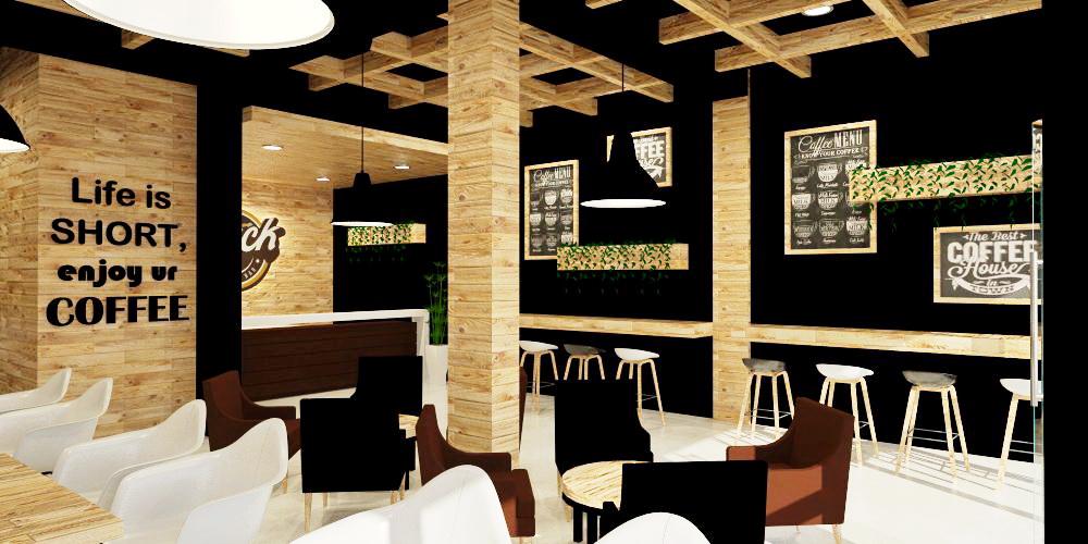 Sribu Desain  Booth Desain  Interior Black Cafe  Bar