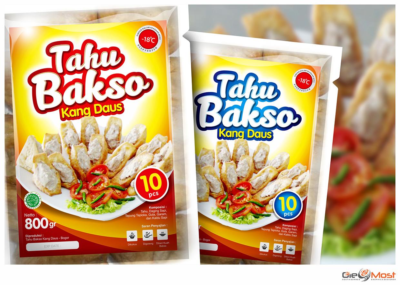 Sribu Desain Label Desain Label Tahu Bakso Kang Daus