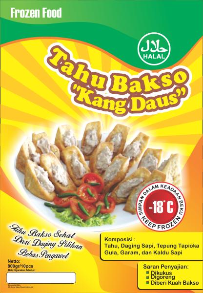 Galeri Desain Label Tahu Bakso Kang Daus
