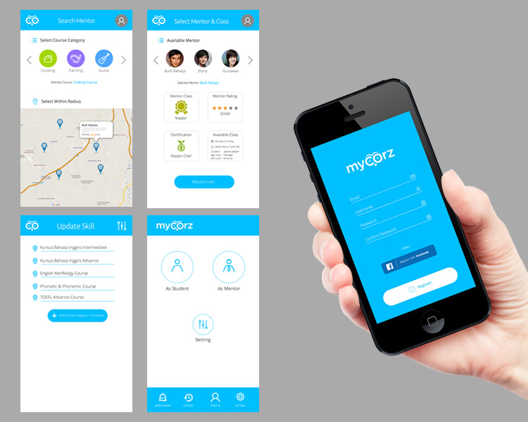 Mobile Application Design for Training Service Provider 'My Corz'